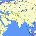 【発券内容】<KE:大韓航空>と<AF:エールフランス>のビジネスクラスで弾丸旅行