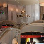 EK:エミレーツ航空【A380ファーストクラス】EK204:ニューヨーク/ジョン・F・ケネディー(JFK)-ドバイ(DXB)<搭乗・シート編>