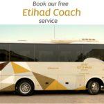 エティハド航空の無料シャトルバス~【ドバイ市街地-アブダビ国際空港】