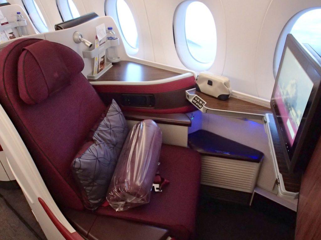 カタール航空A359ビジネスクラス
