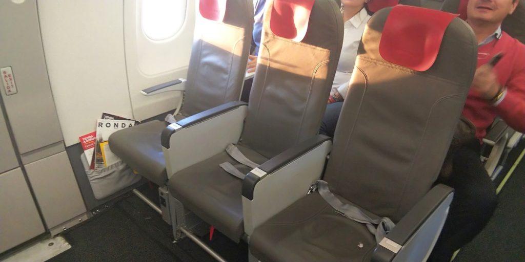 イベリア航空A321エコノミークラス