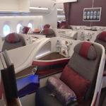 『オスロ発券』世界一周航空券スタート!~カタール航空【A359ビジネスクラス】QR176:オスロ(OSL)-ドーハ(DOH)