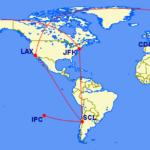 オスロ発券【oneworld世界一周航空券(RTW)ビジネスクラス4大陸】Phase3